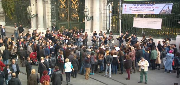 Muhteşem Yüzyıl Kösem Sultan'dan İstiklal Caddesi'nde flashmob