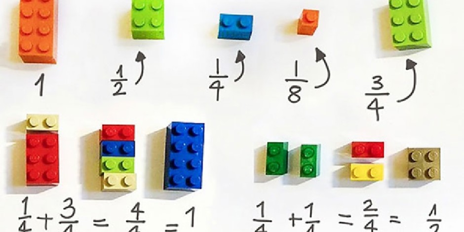 Çocuklara matematik öğretmek için LEGO'ları kullanan öğretmen