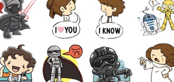 Facebook'ta Star Wars Sticker'ları