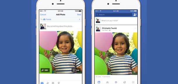 Facebook'un yeni desteği: Apple'ın Live Photos özelliği