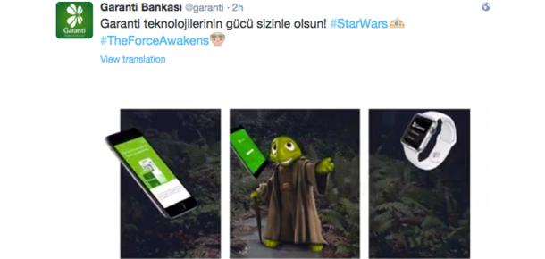 Markaların Star Wars paylaşımları