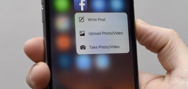 Facebook iOS uygulamasını 3D Touch özelliğine göre yeniledi