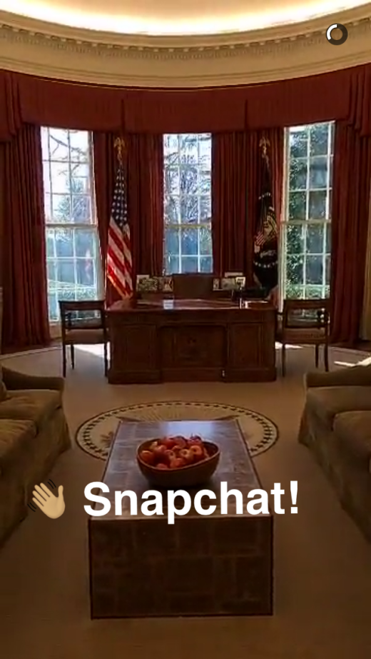 snapchat -white house