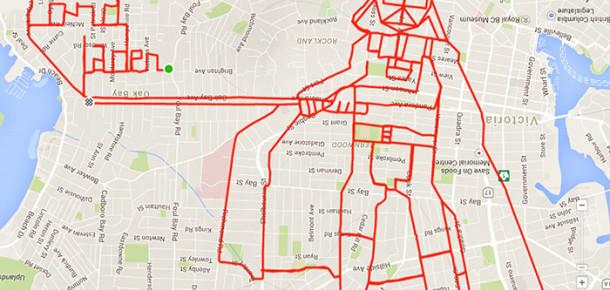 GPS'iyle birlikte bisiklet süren sanatçı dünyanın en büyük çizimlerini yapıyor