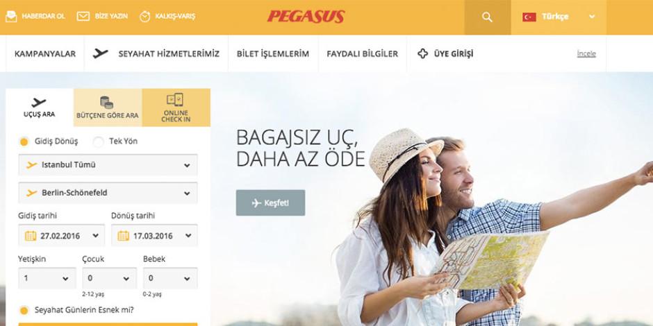 Pegasus'un internet sitesi flypgs.com yenilendi