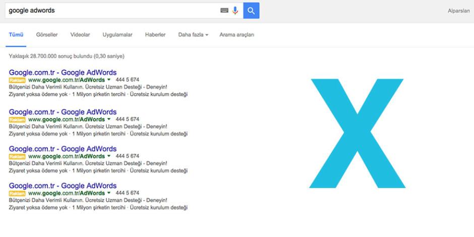Google, arama sonuçlarının sağındaki reklamları kaldırıyor