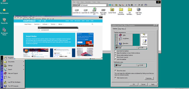 Biraz nostalji: Tarayıcınızda Windows 95'i çalıştırmak ister misiniz?