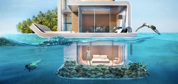 Dubai'nin su altı odalarına sahip yüzen apartmanlar projesi