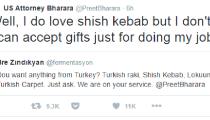 Reza Zarrab'ı tutuklatan savcı Bharara, Twitter'da Türk takipçisine cevap verdi