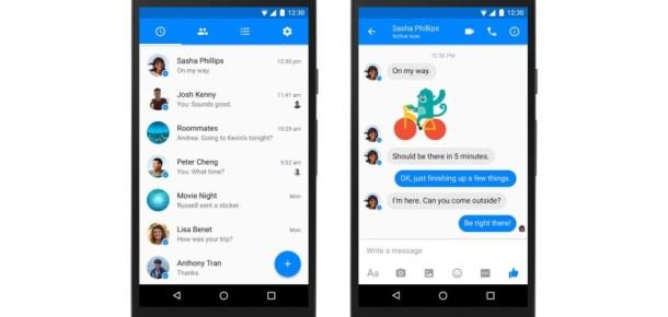 Facebook Messenger Android'de Material Design ile yenilendi