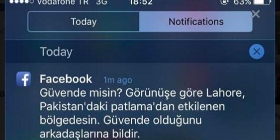 Facebook, Pakistan'daki patlamayı Türkiye'de zannetti, eleştiri odağı oldu