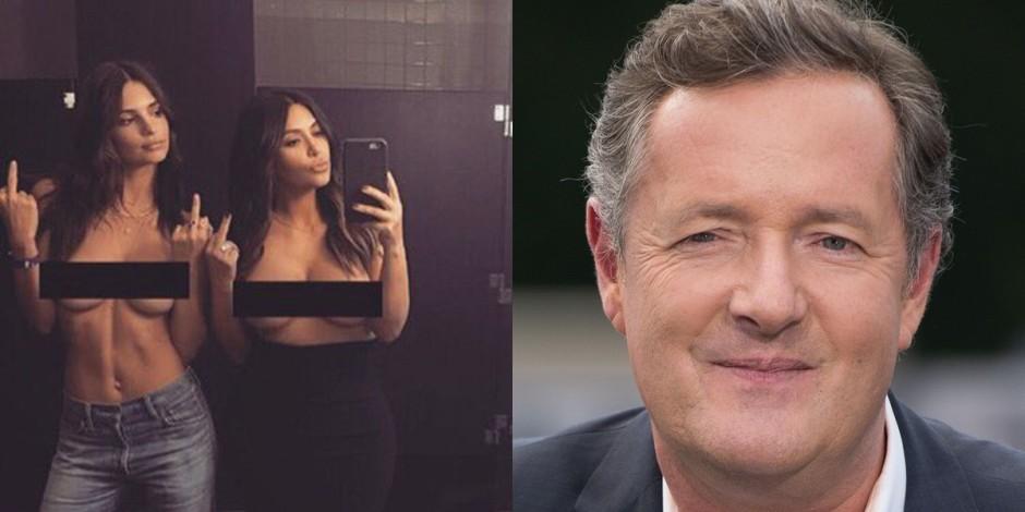 Kim Kardashian'ın üstsüz selfisine Piers Morgan'dan tepki geldi
