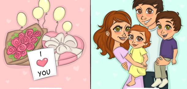 Çiftlerin evlilikten öncesi ve sonrası