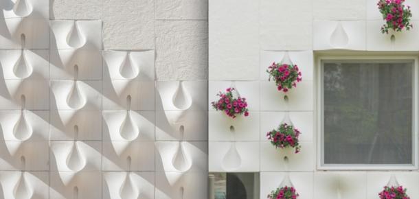 Yağmurla çiçek açan duvar tasarımı