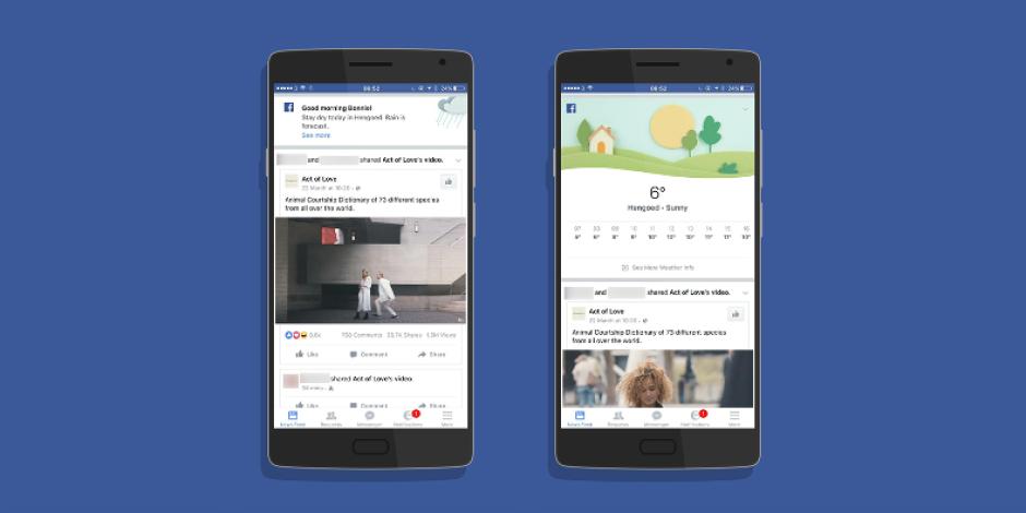 Facebook, mobil uygulamasında hava durumu uyarılarını test ediyor