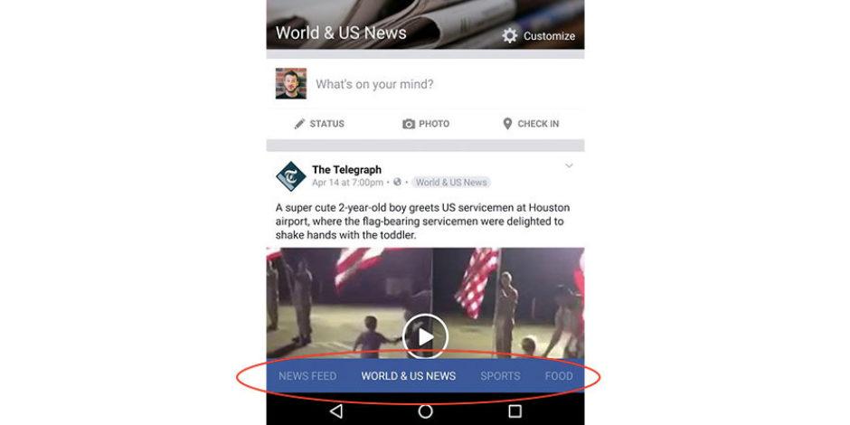 Facebook'tan mobil haber akışında büyük değişim habericisi testler