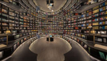 Görsel yanılsama ile donatılmış eşsiz bir kitap evi