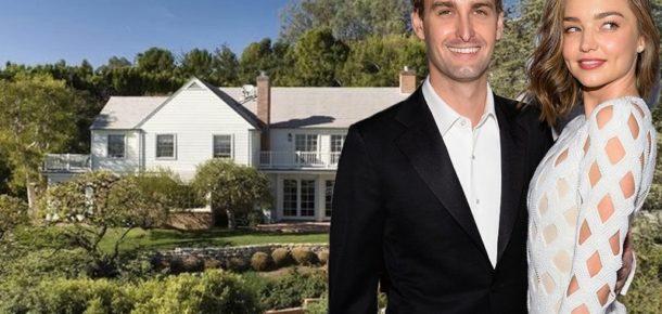 Snapchat CEO'su Evan Spiegel ve Miranda Kerr beraber 12 milyon dolarlık bir ev aldılar