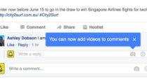 Facebook yorumlara video ile cevap verme özelliğini test ediyor