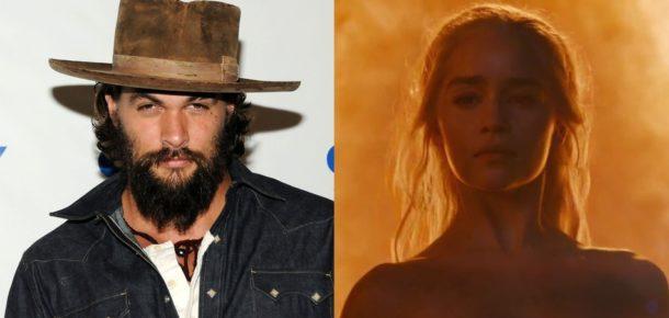Daenerys'in ateş sahnesine Khal Drogo'dan güzel tepki