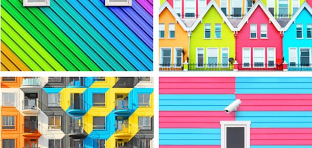 Ramin Nasibov'un rengarenk mimari çizimlere sahip Instagram hesabı