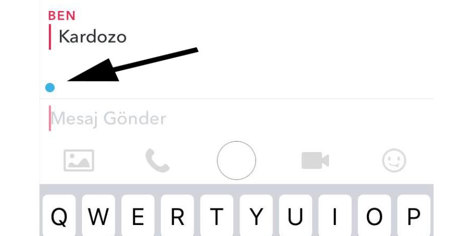 Snapchat mesajlarında sürekli beliren mavi nokta ne anlama geliyor?