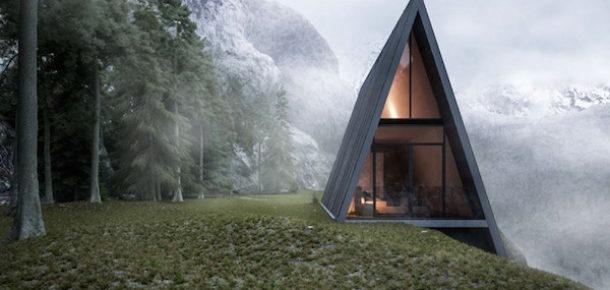 Hem tasarımın hem dağın zirvesinde bir ev