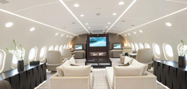 Bu özel Boeing jeti adeta uçan lüks bir ev