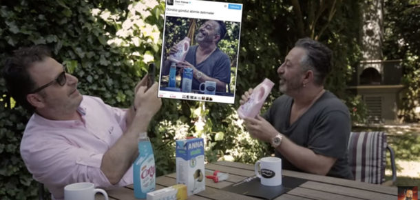 Cem Yılmaz, hızlı tüketim ürünleri reklamlarına gönderme yapıyor