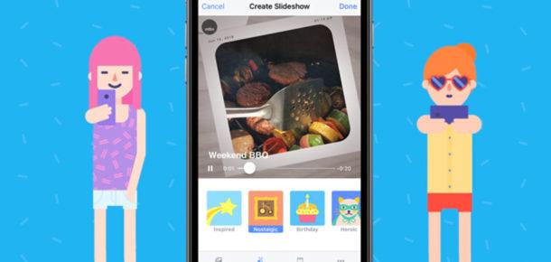 Facebook, kendi slideshow uygulamasını yayına aldı