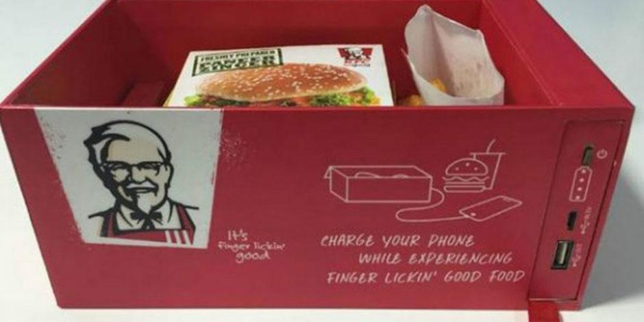 KFC'den telefonunuzu şarj edebileceğiniz kutu