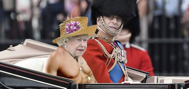 Kraliçenin yeşil elbisesine yapılan efsane photoshop örnekleri
