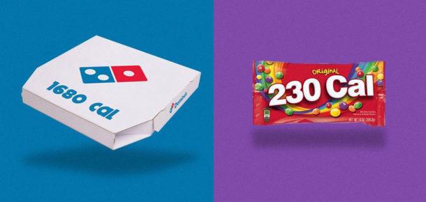 Marka logolarını kalorileriyle değiştiren tasarımcı acı gerçekleri ortaya çıkardı
