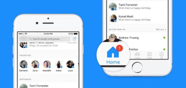 Facebook Messenger yeni tasarımında