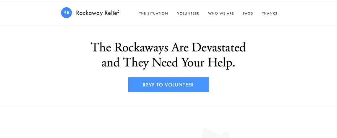 rockaway-relief-homepage-simple-design