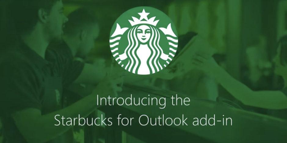 Microsoft Outlook'tan Starbucks siparişi verebileceksiniz