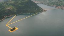 İtalya'da gölün üzerinde yürümeye olanak tanıyan proje