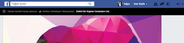 facebook baskasinin gozunden gor