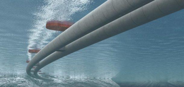 Norveç'te suda yüzen tünel projesi