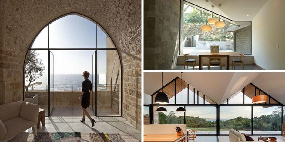 Çatı hattını takip eden pencereleriyle 15 harika ev