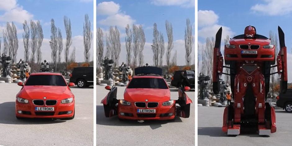 Türk mühendisler gerçek bir BMW Transformer yaptı!