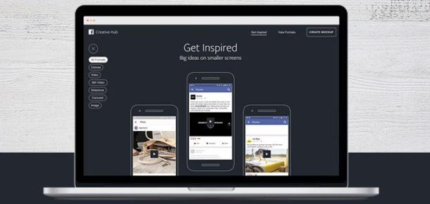 Facebook, mobil reklamlar için ilham galerisini de barındıran Creative Hub'ı herkesin kullanımına açtı