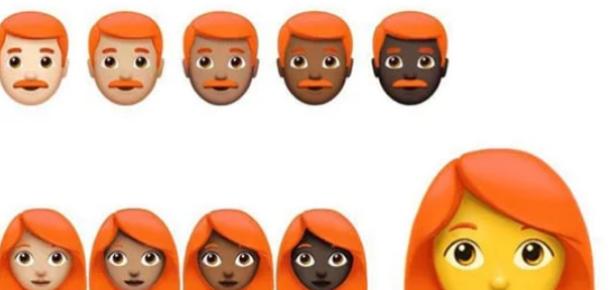 Kızıl saçlı emojiler geliyor!