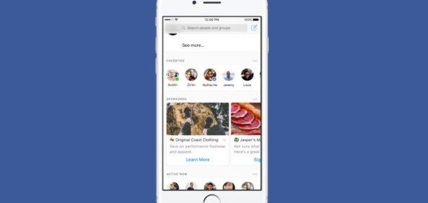 Facebook Messenger'a reklamlar geliyor