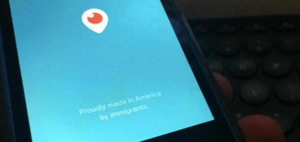 Twitter'dan Periscope açılış ekranına özel metin