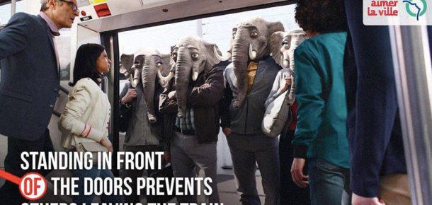 Toplu taşıma kurallarına uymayanlar için bir farkındalık kampanyası