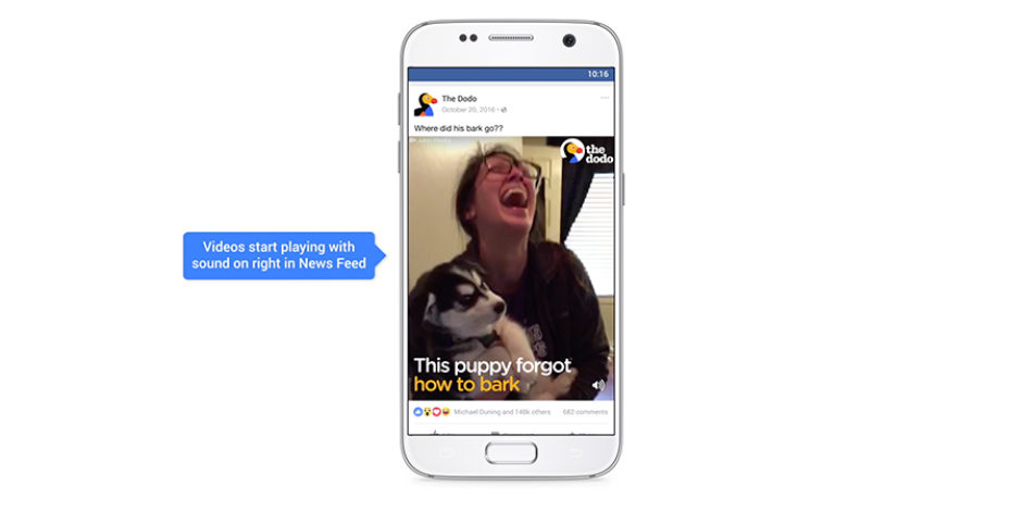 Facebook, otomatik oynatılan videolarda sesi açacağını duyurdu