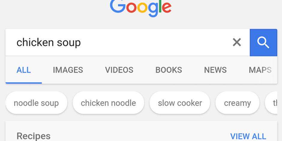 Google, mobil uygulamasında yemek tarifi aramalarını bir adım ileri taşıdı