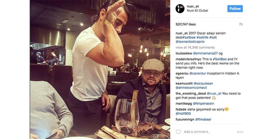 Nusret, Leonardo DiCaprio'nun yemeğini servis ederse