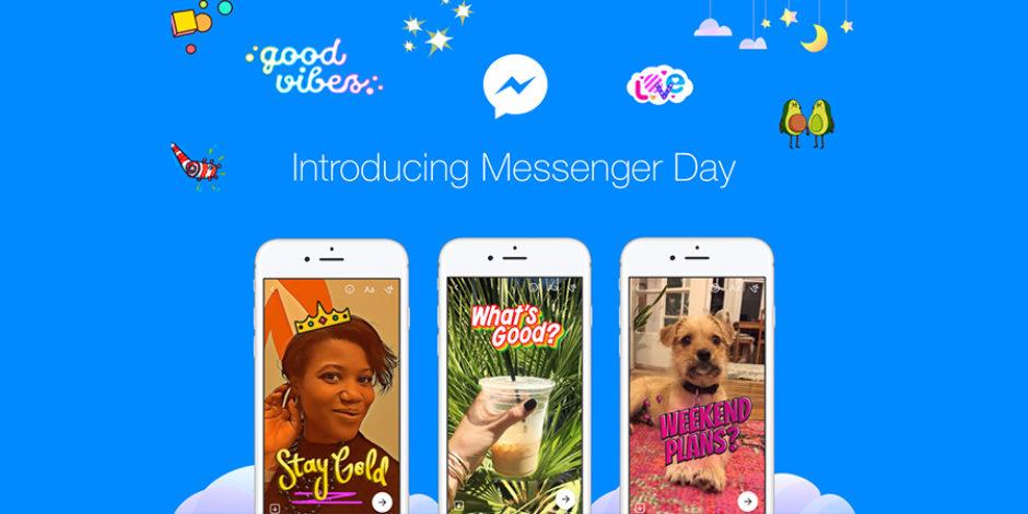 """Facebook, Messenger uygulamasına da """"stories"""" özelliği ekledi: Messenger Day"""